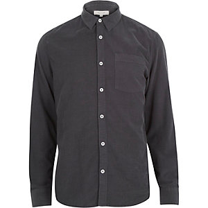Grey cord long sleeve shirt