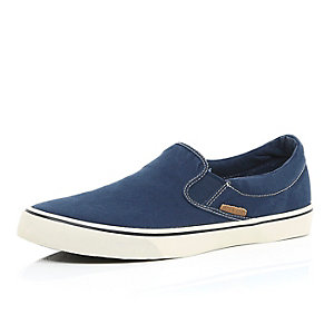 Blue Jack & Jones slip on plimsolls