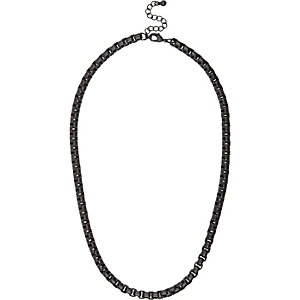 Black matte chain necklace