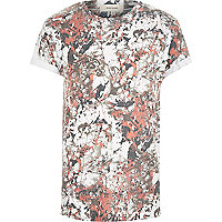 Orange paint splatter t-shirt