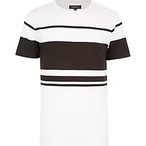 White block stripe t-shirt