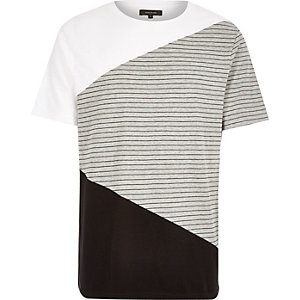 White block colour short sleeve t-shirt