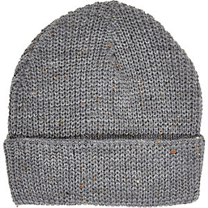 Grey shallow fit beanie
