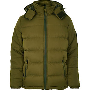 Brown Bellfield quilted padded winter coat