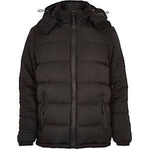 Black Bellfield quilted padded winter coat