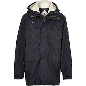 Navy Bellfield 2-in-1 winter coat