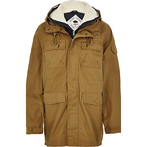 Brown Bellfield 2-in-1 winter coat