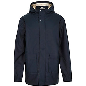 Navy Bellfield waterproof parka coat