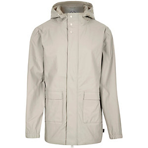 Grey Bellfield waterproof parka winter coat