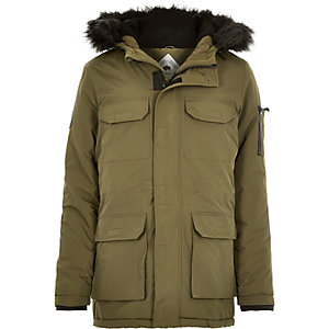 Khaki Bellfield parka winter coat