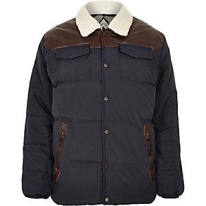 Navy Bellfield padded winter jacket