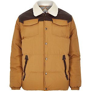 Brown Bellfield padded winter jacket