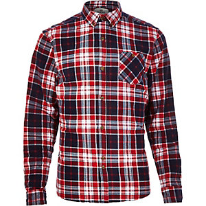 Red Bellfield check flannel shirt