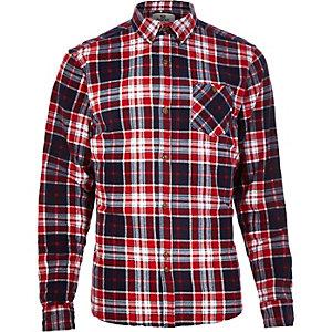 Red Bellfield check flannel shirt