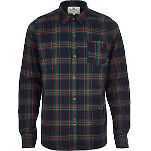 Navy Bellfield check shirt