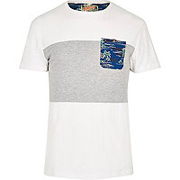 White Bellfield Hawaiian pocket t-shirt