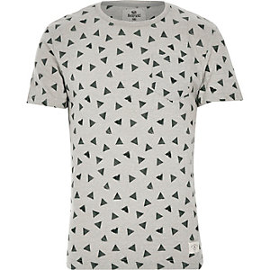 Grey Bellfield triangle print t-shirt