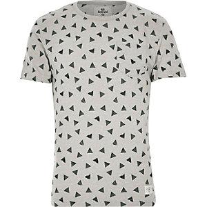 Grey Bellfield triangle print t-shirt