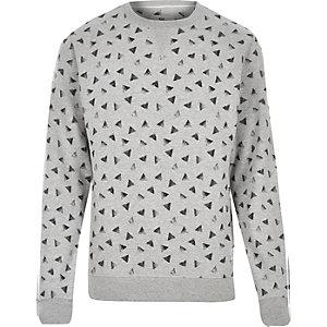 Grey Bellfield triangle print sweatshirt