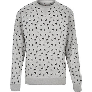 Grey Bellfield triangle print sweatshirt