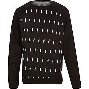 Black Bellfield feather print sweatshirt
