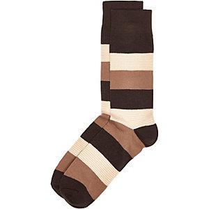 Ecru stripe socks