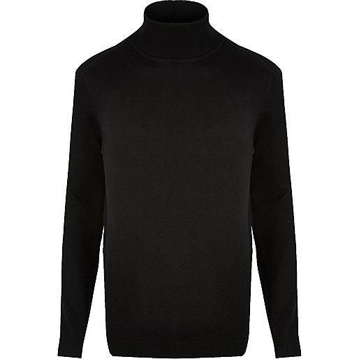 Black roll neck sweater