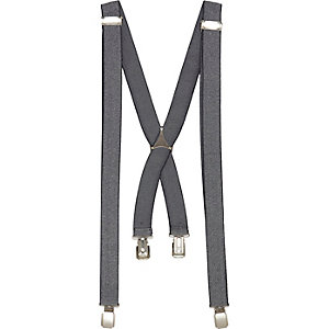 Grey marl suspenders