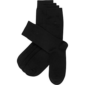 Black RI branded ankle socks pack