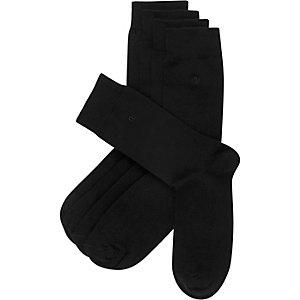 Black RI branded ankle socks pack