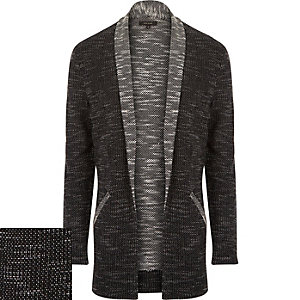 Black cotton-blend cardigan