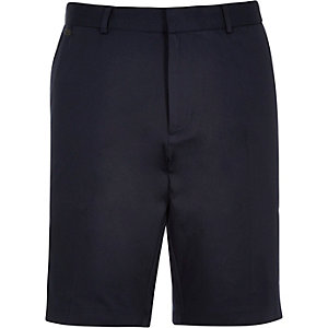 Navy blue smart shorts