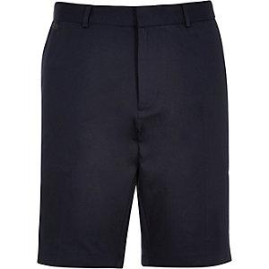 Navy blue smart shorts