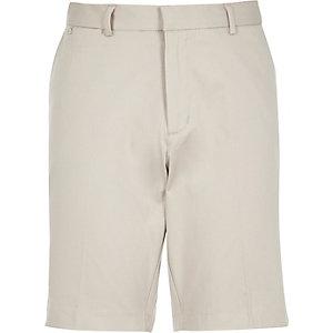 Ecru smart shorts