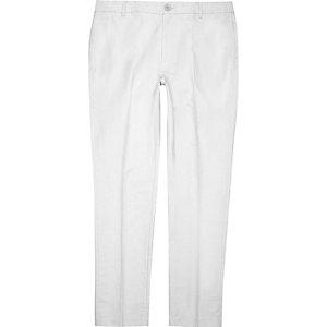 Stone grey cotton trousers