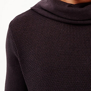 Dark purple cowl neck jumper