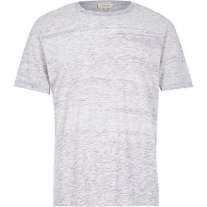 Light grey brushstroke t-shirt