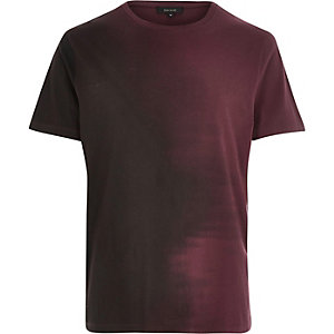 Red faded side t-shirt