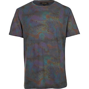 Green oil slick t-shirt