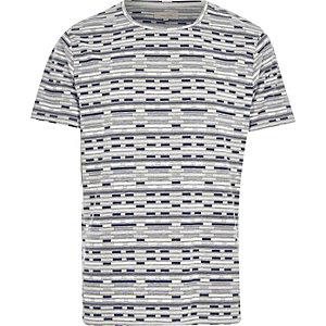 Grey marl jacquard print t-shirt