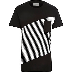 Black Only & Sons stripe t-shirt