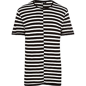 Black Only & Sons stripe panel t-shirt
