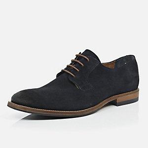 Navy nubuck formal shoes