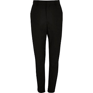 Black smart tailored trousers