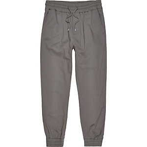 Grey slouchy cotton joggers