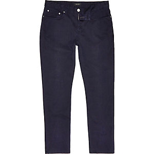 Navy slim cotton cords