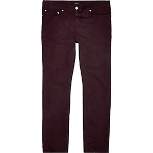 Berry purple slim fit cotton cords