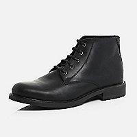 Black leather smart chukka boots