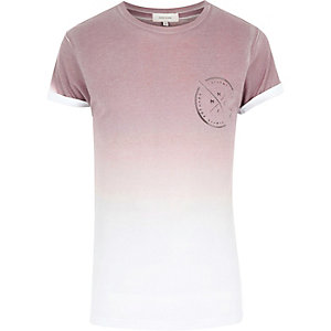 Light pink faded chest print t-shirt