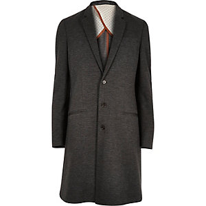 Grey long smart overcoat